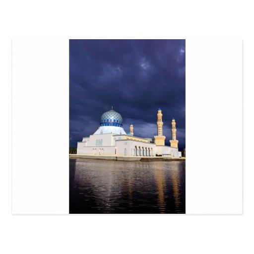 Mezquita de la ciudad en Kota Kinabalu Malasia Postal