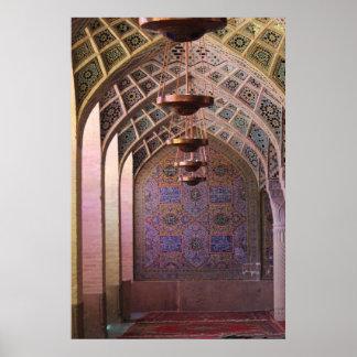 Mezquita de Mulk del al de Nasir Póster