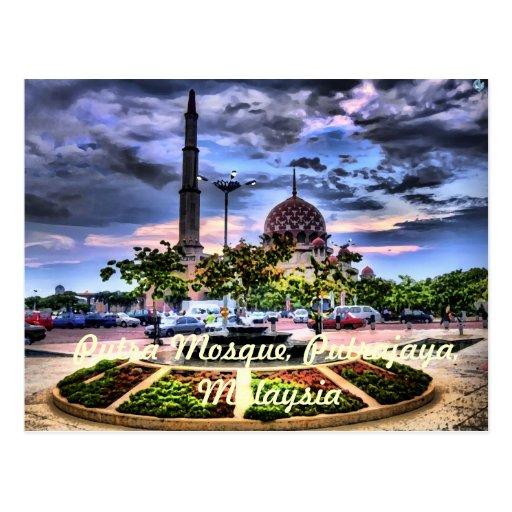 Mezquita de Putra, Putrajaya, Malasia Tarjetas Postales