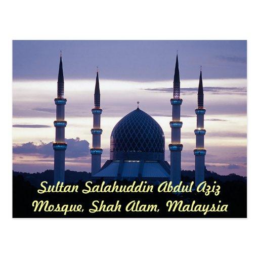 Mezquita de Salahuddin Abdul Aziz del sultán, Shah Tarjeta Postal