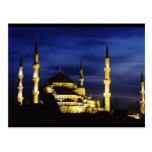 Mezquita de Yeni Valide en la noche Postal
