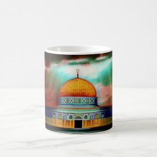 Mezquita del al-Aqsa en taza de Jerusalén, Israel