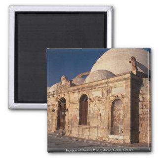 Mezquita del bajá de Hassam Xania Creta Grecia Imanes Para Frigoríficos