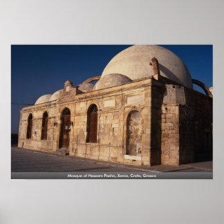 Mezquita del bajá de Hassam Xania Creta Grecia Poster