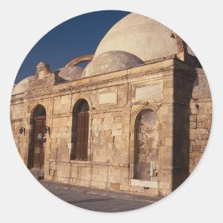 Mezquita del bajá de Hassam Xania Creta Grecia Pegatina Redonda