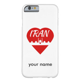 Mezquita del corazón de Irán Funda De iPhone 6 Barely There