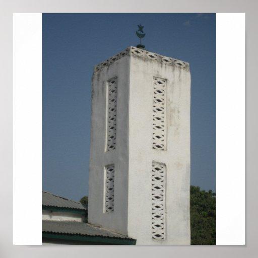 Mezquita del pueblo de Kinjata, isla de Jinack Posters