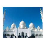 Mezquita en Abu Dhabi Tarjetas Postales