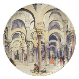 """Mezquita en Córdoba, de """"bosquejos de España"""", eng Plato De Cena"""