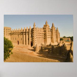 Mezquita en Djenne, un ejemplo clásico de Póster