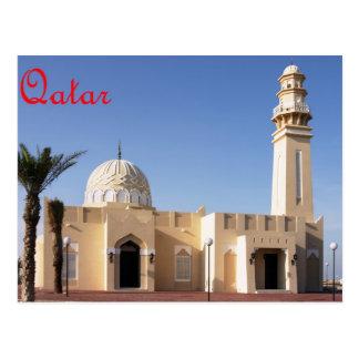 Mezquita en la postal de Qatar