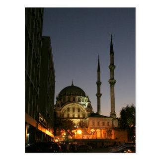 Mezquita musulmán en Estambul, Turquía Postal