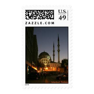 Mezquita musulmán en Estambul, Turquía Sello
