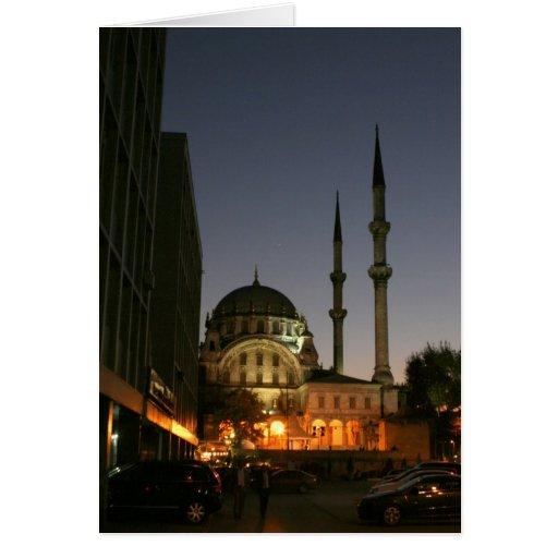 Mezquita musulmán en Estambul, Turquía Felicitaciones