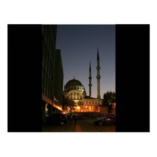 Mezquita musulmán en Estambul, Turquía Tarjeta Postal