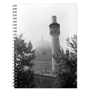 Mezquita real 1970 de BW Irán Isfahán Note Book
