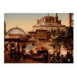 Mezquita y calle, Scutari, Constantinopla, Turquía Postal