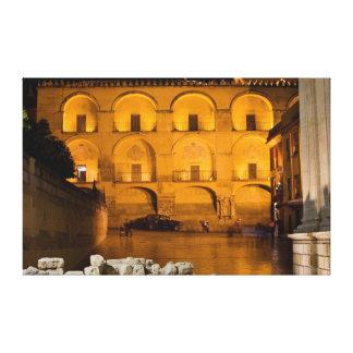 Mezquita y Plaza del Triunfo en la noche en Córdob Impresiones De Lienzo