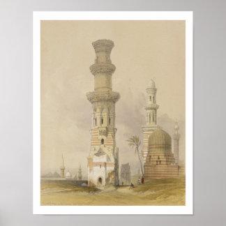 Mezquitas arruinadas en el desierto, al oeste de l posters