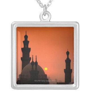 Mezquitas en la puesta del sol pendientes personalizados