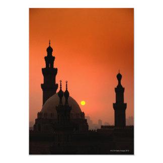 Mezquitas en la puesta del sol invitación 12,7 x 17,8 cm