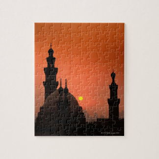 Mezquitas en la puesta del sol puzzles
