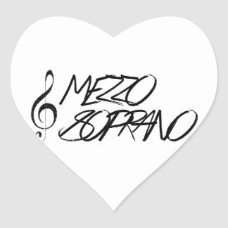 Mezzo Soprano Heart Sticker