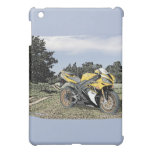 Mezzotint Countryside and Yellow Motorcycle Cover For The iPad Mini