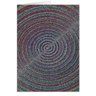mezzotint SANDY BEACH SWIRLS PIXELATED COLORFUL A Card