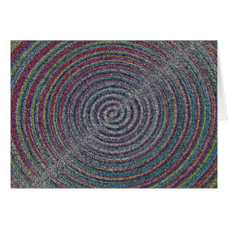 mezzotint SANDY BEACH SWIRLS PIXELATED COLORFUL A Greeting Cards