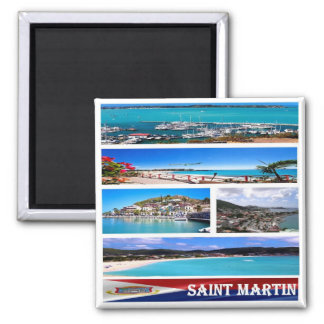 MF - Saint Martin - Mosaic Collage Magnet