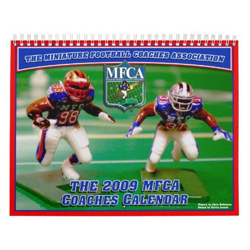 MFCA 2009 Miniature Football Wall Calendars