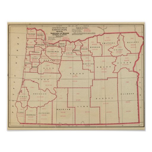 Mfg de Oregon, industrias mecánicas Póster