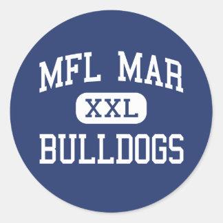 MFL marcha - dogos - High School secundaria - Pegatina Redonda