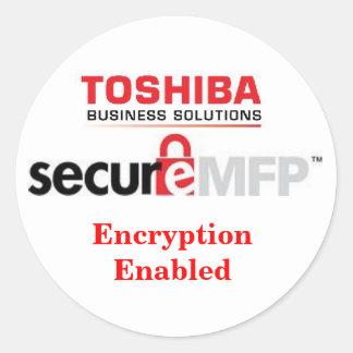 MFP secure sticker