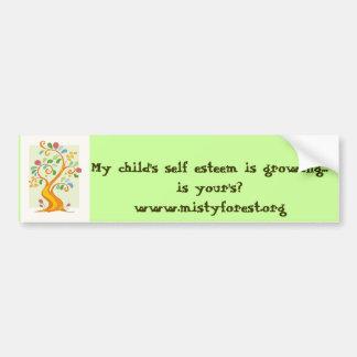 MFtree, My child's self esteem is growing... is... Bumper Sticker