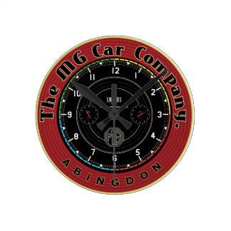 Mg Car Company Abingdon England Round Wall Clocks