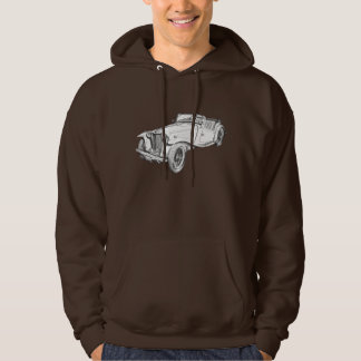 MG Convertible Antique Car Illustration Hoodie