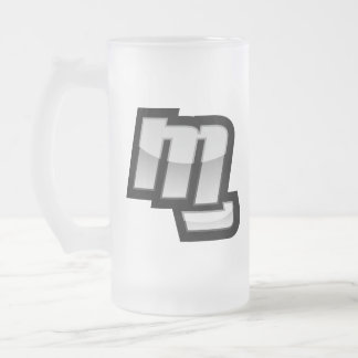 MG Fist Symbol Frosted Glass Beer Mug