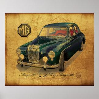 Mg magnette sedan posters