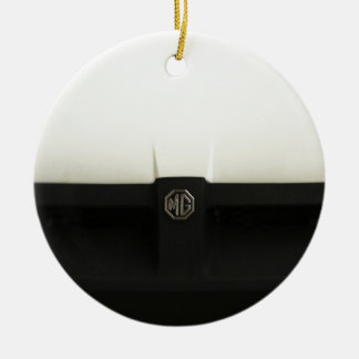 MG MGB Double-Sided CERAMIC ROUND CHRISTMAS ORNAMENT