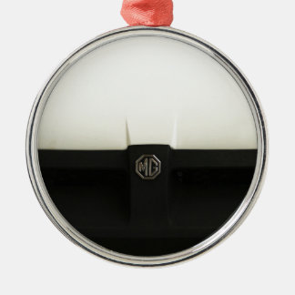 MG MGB ROUND METAL CHRISTMAS ORNAMENT