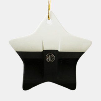 MG MGB Double-Sided STAR CERAMIC CHRISTMAS ORNAMENT