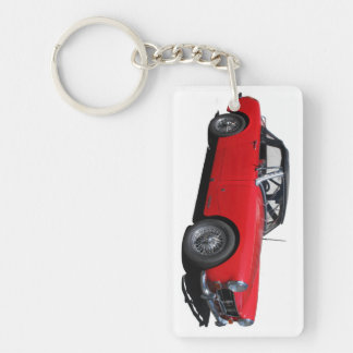 MG Midget Single-Sided Rectangular Acrylic Keychain