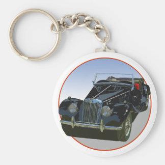 MG negro TF 1500 Llavero Redondo Tipo Pin