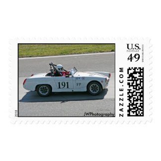 MG Race Car Postage Stamps