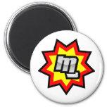 MG Symbol 2 Inch Round Magnet