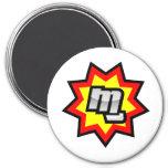 MG Symbol 3 Inch Round Magnet