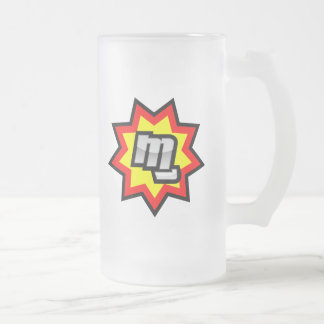 MG Symbol Frosted Glass Beer Mug