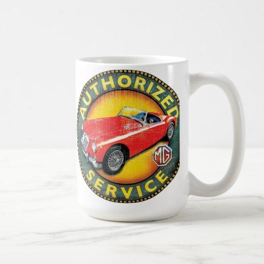 MGA roadster service sign Coffee Mug